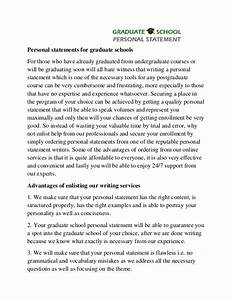 graduate personal statement examples cv sample