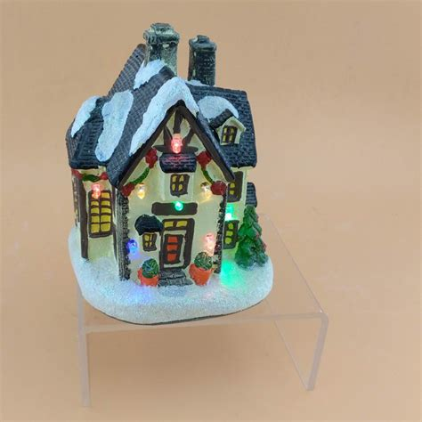 led lights for christmas village houses happy holiday time christmas 5inch christmas village