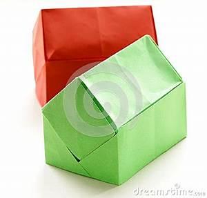 Origami Maison En Papier : maisons de papier d 39 origami color photo stock image ~ Zukunftsfamilie.com Idées de Décoration