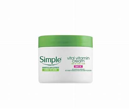Simple Cream Vital Vitamin Spf Skincare Night