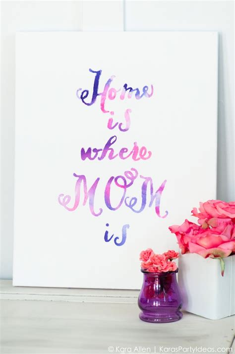diy gifts for s day kara s party ideas celebrate mom diy watercolor mother s day gift canvas tutorial
