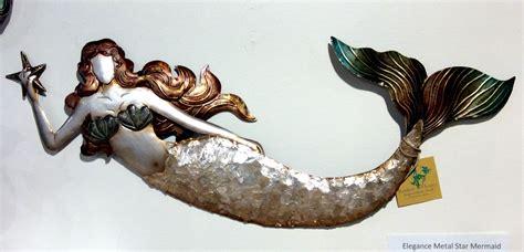 Mermaid Capiz & Metal Wall Art