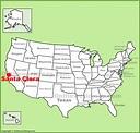 Santa Clara location on the U.S. Map