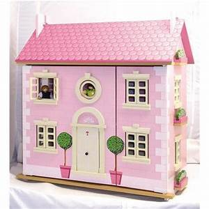 Maison De Poupe En Bois Rose Achat Vente Maison