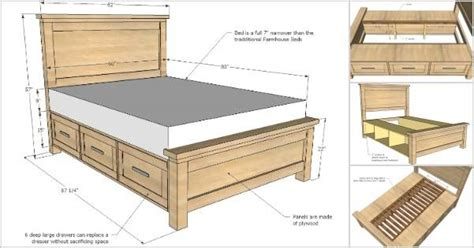 creative ideas   build  farmhouse storage bed