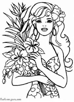 printable barbie coloring pages printable coloring pages  kids