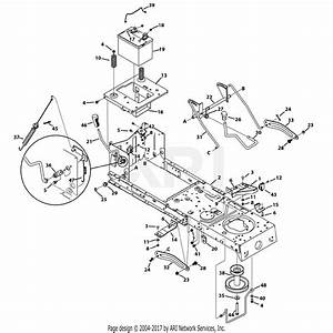 Mtd 13ac76lf055  2013  Parts Diagram For Frame  U0026 Pto Lift