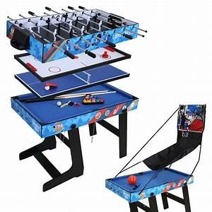 Table Jeux D Eau : table multi jeux pliante billard tennis babyfoot hockey ~ Melissatoandfro.com Idées de Décoration