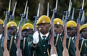 Members of the Zimbabwe Defence Forces at the inauguration ...