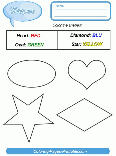 preschool colors and shapes shapes and colors worksheets for preschool 129