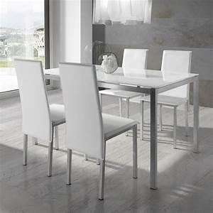 Chaise Table A Manger : chaise table manger table ronde blanche avec rallonge trendsetter ~ Teatrodelosmanantiales.com Idées de Décoration