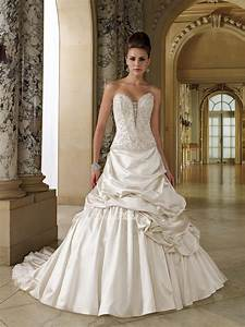 satin sweetheart strapless lace up ball gown wedding With dress up wedding