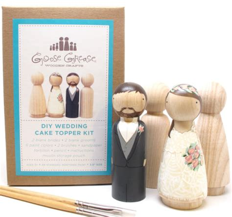wedding cake toppers do it yourself kit peg doll set