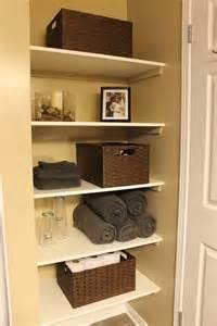 towel folding ideas for bathrooms km decor diy organizing open shelving in a bathroom