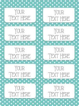 Avery Labels 5163 Template by Polka Dot And Stripes Editable Labels Three Sizes Avery