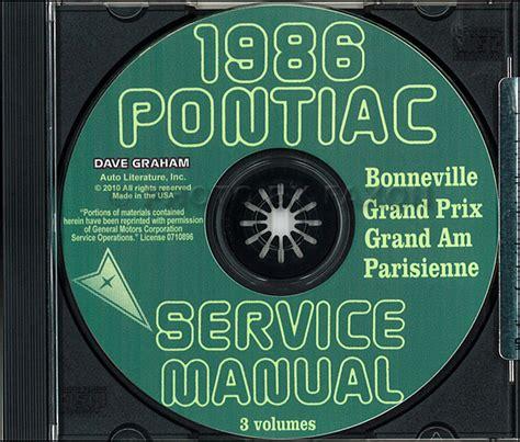 car service manuals pdf 1985 pontiac parisienne instrument cluster 1986 pontiac shop manual and body cd grand prix parisienne bonneville grand am ebay