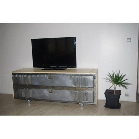 bureau bois massif ancien meuble tv industriel vestiaire métal et bois