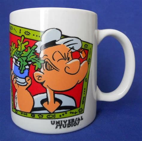 If you're looking for a manly mug, the straight shot certainly fits the bill. Popeye The Sailor Man Coffee Mug Cup Universal Studios Ceramic 1995   eBay