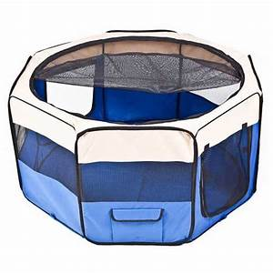 fabric pet play pen for dog puppy cat rabbit ebay With fabric dog pen