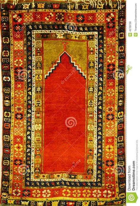 tappeto turco vecchio tappeto turco per pregare fotografia stock