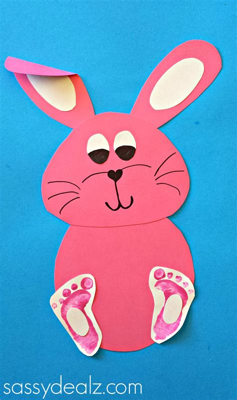 easy bunny crafts for crafty morning 347 | bunny footprint craft rabbit