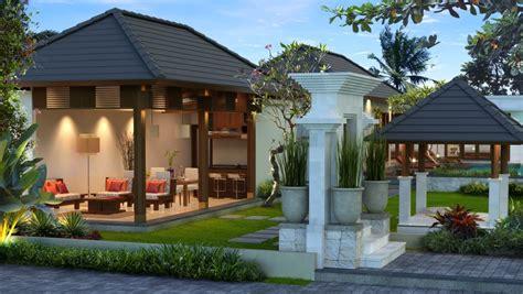 gambar desain rumah desain villa  balinese neo vernacular