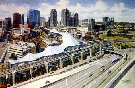 Light Rail Bellevue by Where To Put Light Rail Through Downtown Bellevue