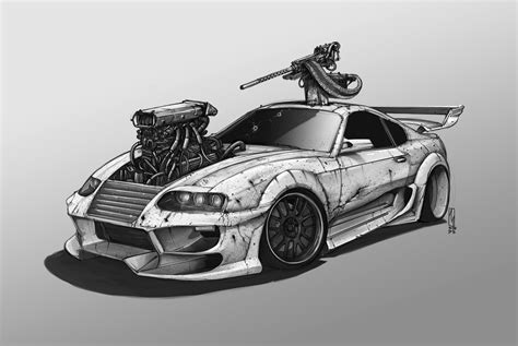 Free Car Wallpapers Automobiles Toyota by Car Toyota Supra Artwork Wallpapers Hd Desktop And