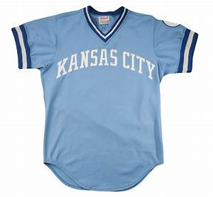 lot detail 1980 george brett game worn kansas city With royals jersey with gold lettering