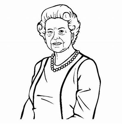 Elizabeth Ii Queen Idosa Rainha Kleurplaat Colorir