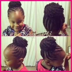 Little Black Girls Braid Bun Hairstyles