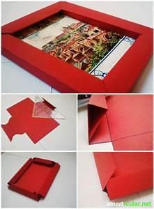 Bilderrahmen Aus Pappe : 3d bilderrahmen mit origami selber falten ohne kleber selbermachen pinterest basteln ~ Watch28wear.com Haus und Dekorationen