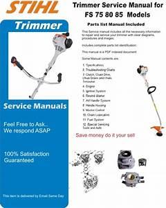 Stihl Trimmer Fs 75 80 85 Service Manual Part List