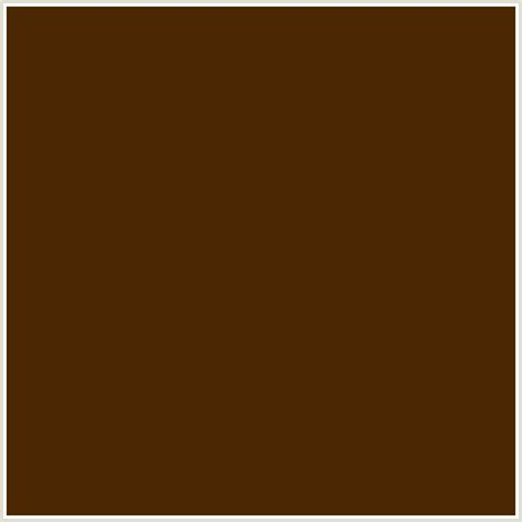 colors that go with chocolate brown 4b2803 hex color rgb 75 40 3 bracken brown orange
