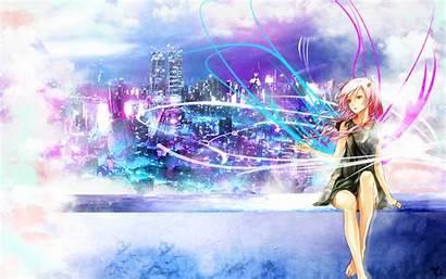 Yuzuriha Inori Guilty Crown Anime Zerochan Cityscapes