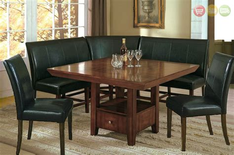 salem pc breakfast nook dining set table corner bench