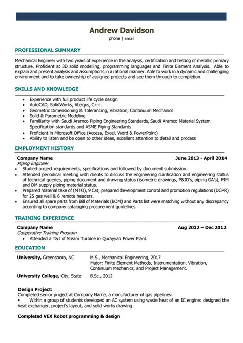 resume mechanical engineer india krida info
