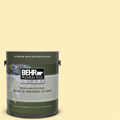 behr premium plus ultra 1 gal p290 1 soft buttercup semi