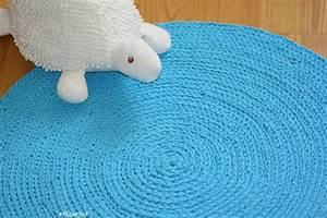 Tapis En Crochet : tapis rond au crochet ateliernat cr ations d co loisirs cr atifs ~ Teatrodelosmanantiales.com Idées de Décoration