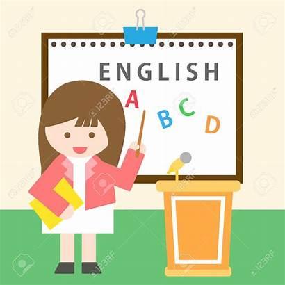 Teacher English Class Clipart Painting Standing 1300