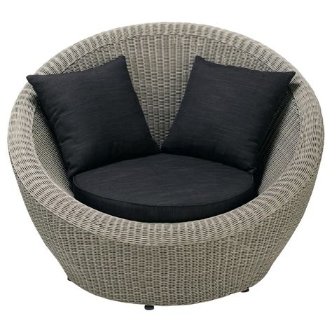 chaise de jardin grise fauteuil de jardin en résine tressée grise cape town