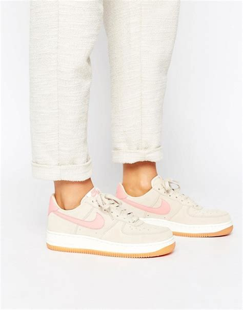 tolle nike air force   trainers  beige  rosa