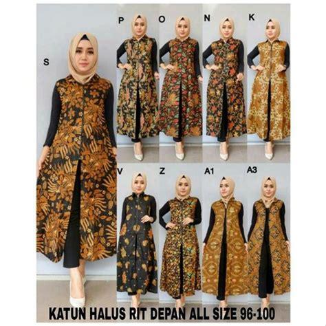 jual new batik collection outer batik modern produk favorit pilihan terbaik di lapak fathimah