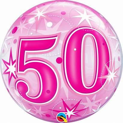 Ballon Ans Verjaardag Bubble Rosa Rose Starburst