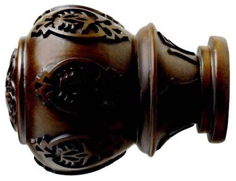 kirsch 2 inch wood trends finial curtain rods by