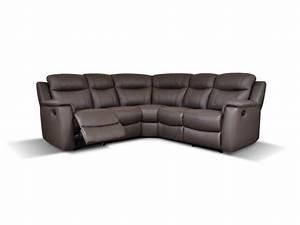 canape d39angle relaxmanuel en cuir evasion 4 coloris With tapis chambre enfant avec canape cuir bicolore relax