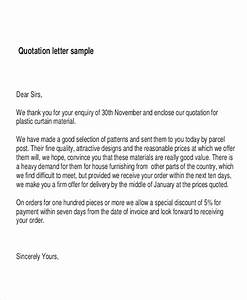 6 price quotation samples sample templates With best price quotation letter