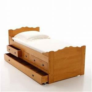 Lit 2 Personnes Avec Tiroir : lit bateau avec tiroir lit pin massif acheter ce produit au meilleur prix ~ Teatrodelosmanantiales.com Idées de Décoration
