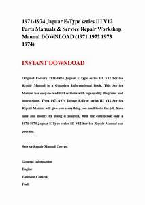 1971 1974 Jaguar E Type Series Iii V12 Parts Manuals