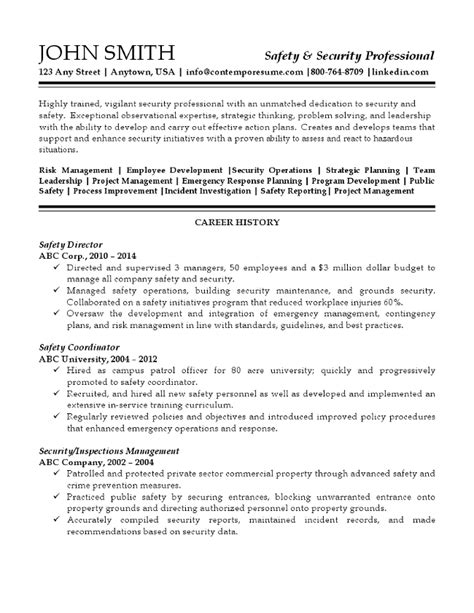 Director Of Security Resume Exles by Security Professional Resume